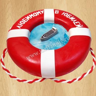Торт спасательный круг