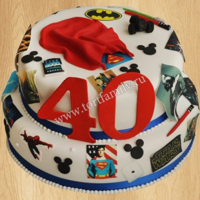 Торт для мужа Супермен
