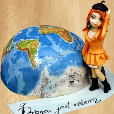 Торт земной шар