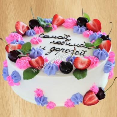 Бисквитный торт с меренгой