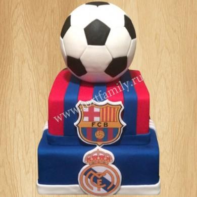 Торт Барса Реал Мадрид