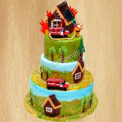 Торт на день пожарного