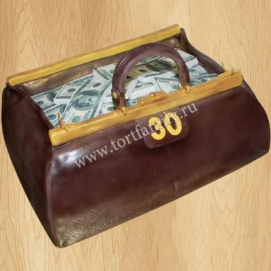 Торт Сумка с долларами