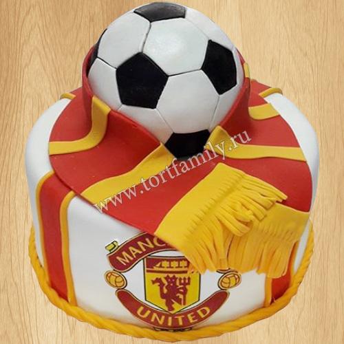 Торт мяч и шарф Манчестер Юнайтед