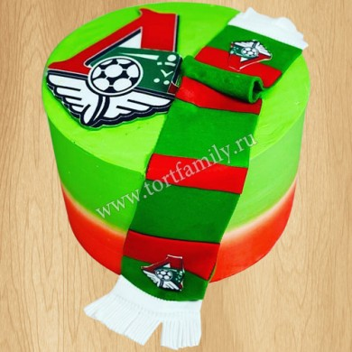 Торт мяч на футбольном поле