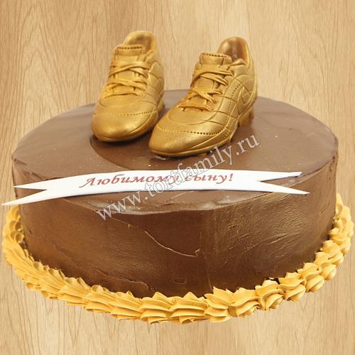 Торт золотые бутсы