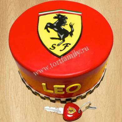 Торт с логотипом Феррари