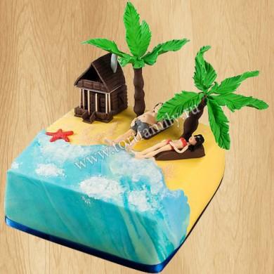 Торт райский остров