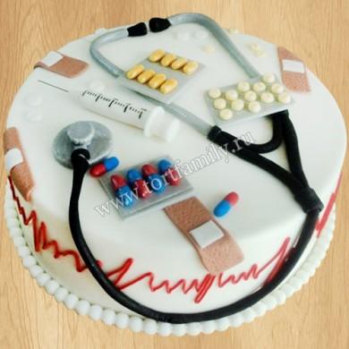 Торт на День медика