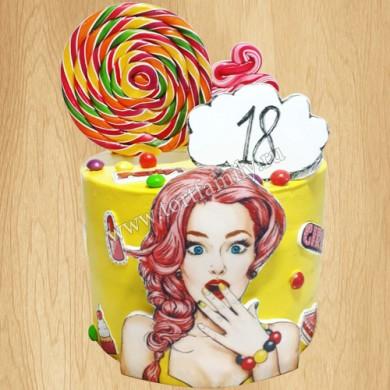 Торт Поп Арт 18 лет