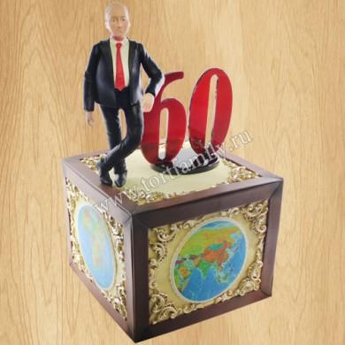 Торт географу на юбилей 60 лет