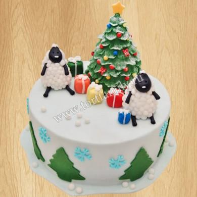 Торт на новогодний стол