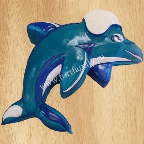 Торт в виде дельфина