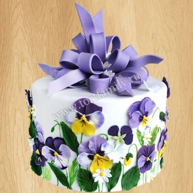 Торт «Анютины глазки» на 8 марта