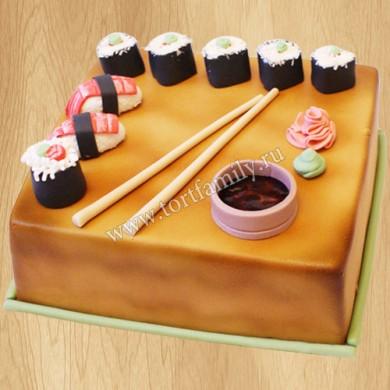 Торт в виде роллов