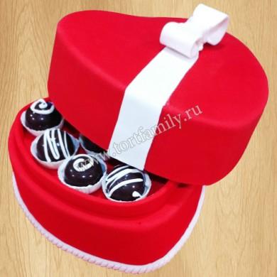 Торт на 8 марта коробка с конфетами