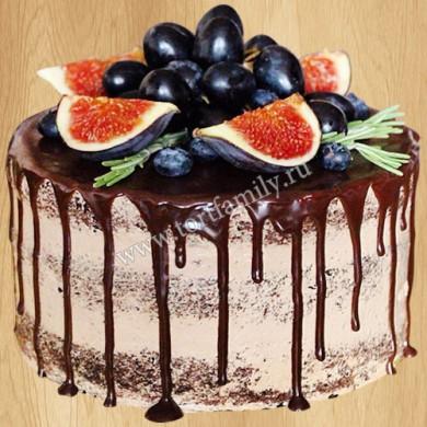 Торт с подтеками из шоколада