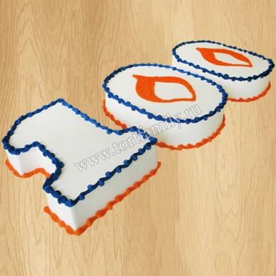Торт цифра 100