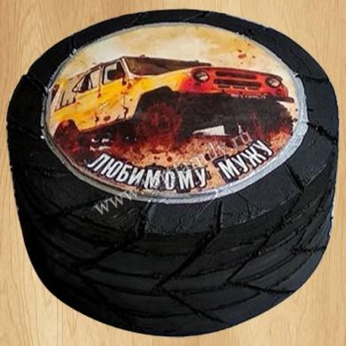 Торт колесо от машины