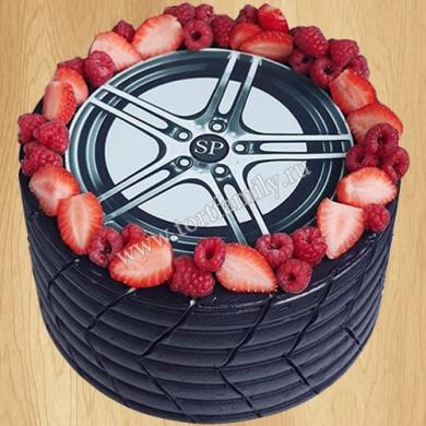 Торт в виде колеса