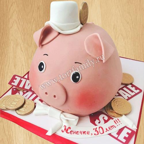 Торт Свинья копилка