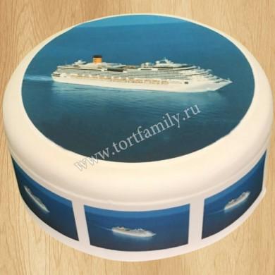 Торт круизными лайнер