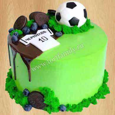 Торт для юного футболиста