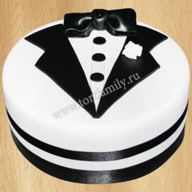 Торт в виде белого фрака