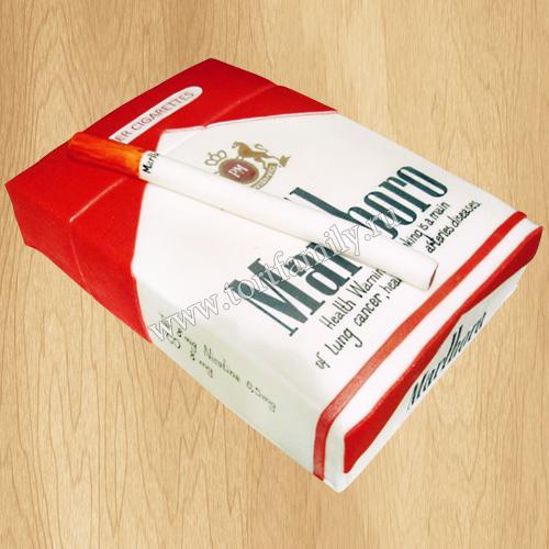 Торт пачка сигарет