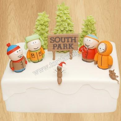 Торт Южный парк на Новый год