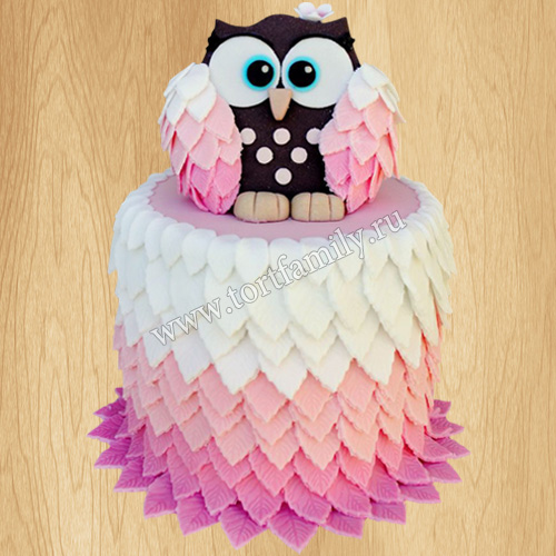 Торт сова для девочки