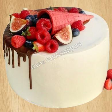 Торт с рожком мужчине