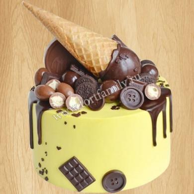 Торт мороженое с шоколадом