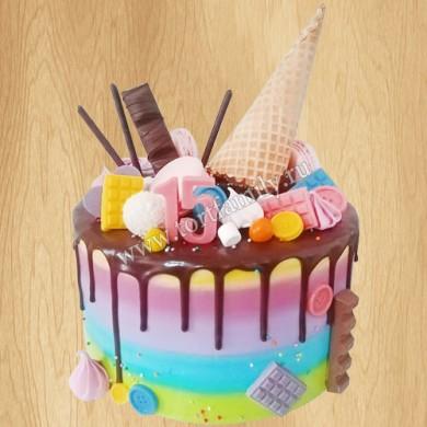 Торт мороженое на 15 лет