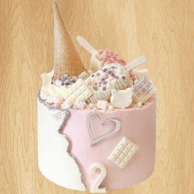 Торт мороженое для девочки
