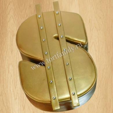 Торт Золотой знак доллара