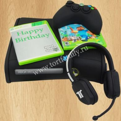 Торт игровая приставка Xbox 360 Pro