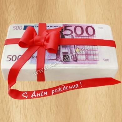 Торт пачка купюр 500 евро