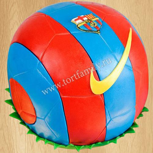 Торт мяч футбольный Барселона