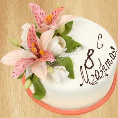 Торт на Международный женский день