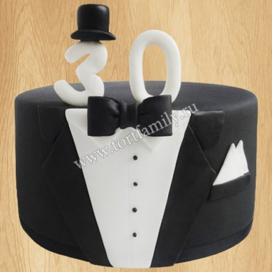 Торт в виде черного фрака