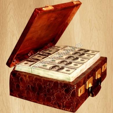 Торт чемодан денежных купюр