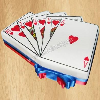 Торт игральные карты