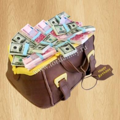 Торт Сумка денег
