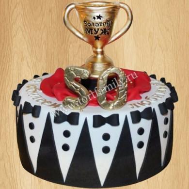 Торт кубок на юбилей 50 лет