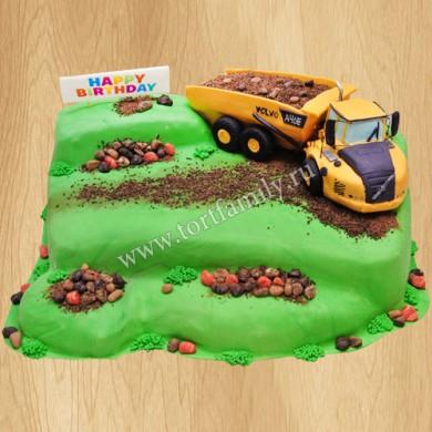 Торт с комбайном на поле
