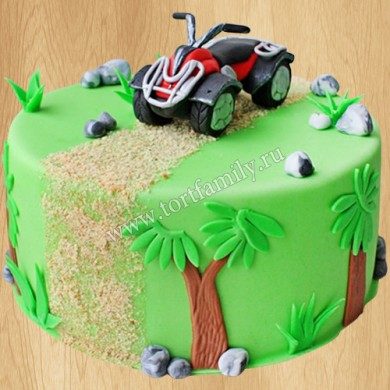 Торт с квадроциклом
