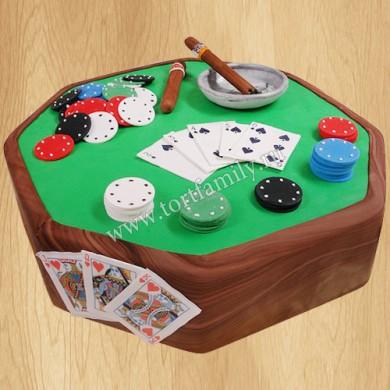 Торт Любителям покера