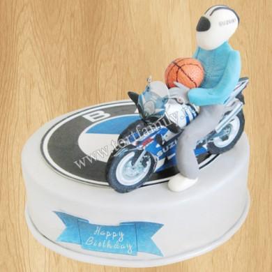 Торт с эмблемой БМВ