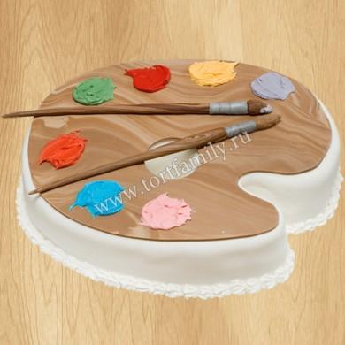 Торт палитра с красками